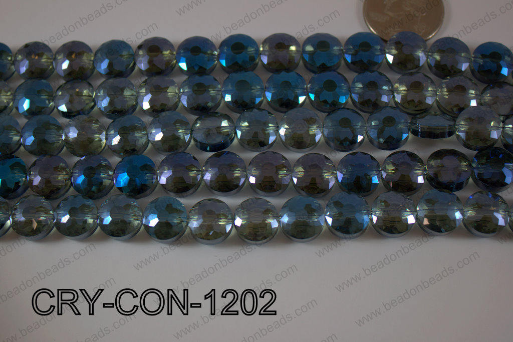 Angelic Crystal Coin Faceted 12mm CRY-CON-1202
