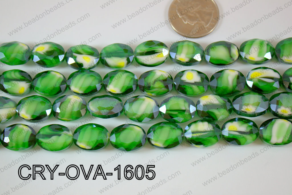 Angelic Crystal Faceted Oval 12x16mm CRY-OVA-1605