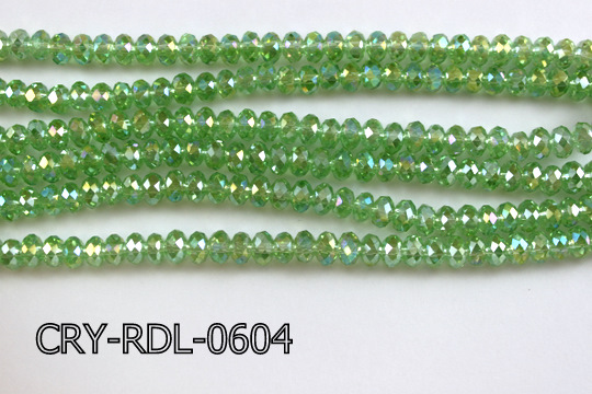 Angelic Crystal Faceted Rondel 6mm 14'' CRY-RDL-0604