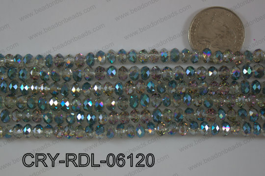 Crystal Rondel 6mm CRY-RDL-06120