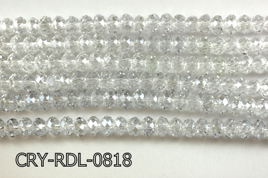 Angelic Crystal Faceted Rondel 8mm 14'' CRY-RDL-0818