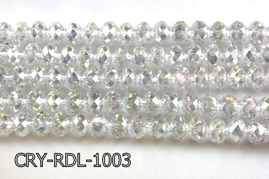 Angelic Crystal Faceted Rondel 10mm 14'' CRY-RDL-1003