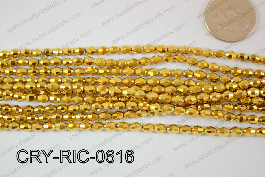 Angelic Crystals Rice 6mm CRY-RIC-0616