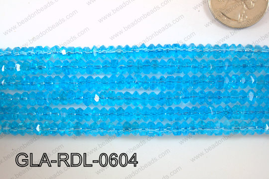 Glass Bead Rondel 6mm GLA-RDL-0604