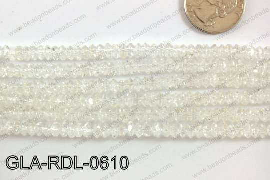 Glass Bead Rondel 6mm GLA-RDL-0610