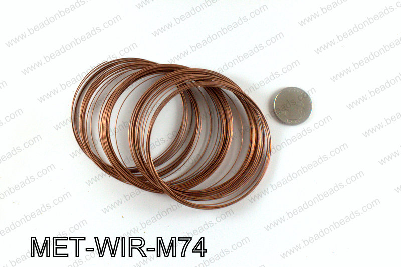 Memory wire, Large size 0.6x70, Copper MET-WIR-M74
