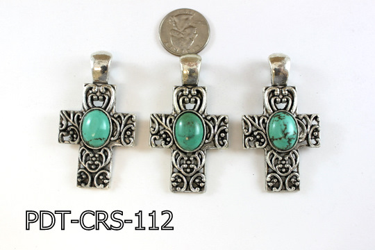 Cross Pendant 34x46mm PDT-CRS-112