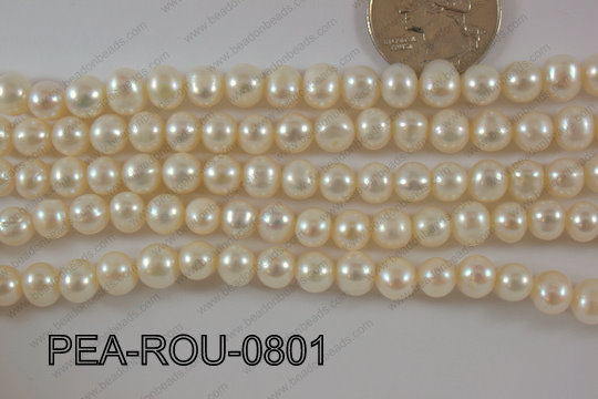 Freshwater Pearl Potato 8mm PEA-ROU-0801