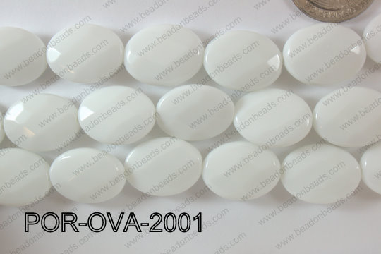 Porcelain Oval Faceted 15x20mm POR-OVA-2001