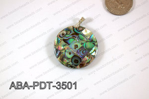 Abalone Pendant Coin 35mm ABA-PDT-3501