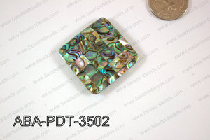 Abalone Pendant Diamond 35mm ABA-PDT-3502