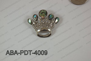 Abalone Pendant Abalone Crown 33x40mm ABA-PDT-4009