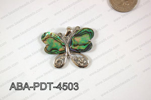 Abalone Pendant Butterfly 35x45mm ABA-PDT-4503