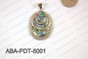 Abalone Pendant Oval 35x50mm ABA-PDT-5001