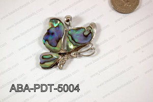 Abalone Pendant Butterfly 45x50mm ABA-PDT-5004