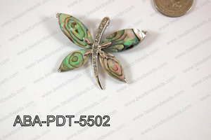 Abalone Pendant Butterfly 45x55mm ABA-PDT-5502