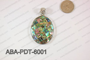 Abalone Pendant Oval 38x60mm ABA-PDT-6001