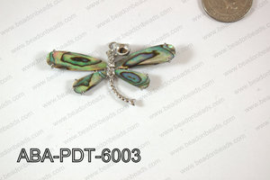Abalone Pendant Dragonfly 35x60mm ABA-PDT-6003