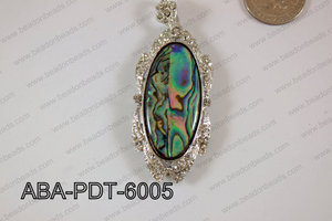 Abalone Pendant Oval 30x60mm ABA-PDT-6005
