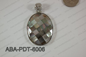 Abalone Pendant Black Lip Oval 38x60mm ABA-PDT-6006