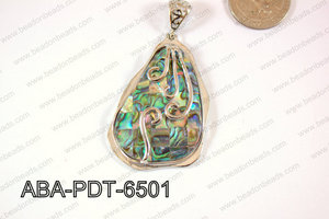 Abalone Pendant Irregular 35x65mm ABA-PDT-6501