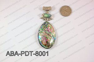 Abalone Pendant Oval 38x80mm ABA-PDT-8001