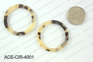Acetate circle pendants 40mm ACE-CIR-4001