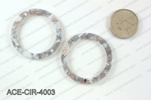 Acetate circle pendants 40mm ACE-CIR-4003