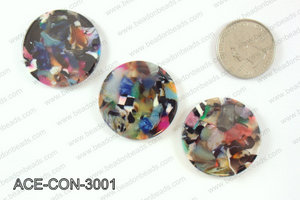 Acetate Coin Pendants 30mm ACE-CON-3001