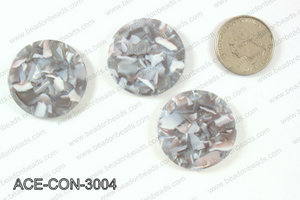 Acetate Coin Pendants 30mm ACE-CON-3004