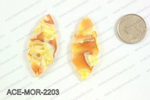 Acetate moroccan pendants 22x50mm ACE-MOR-2203