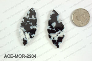 Acetate moroccan pendants 22x50mm ACE-MOR-2204