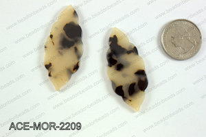 Acetate moroccan pendants 22x50mm ACE-MOR-2209
