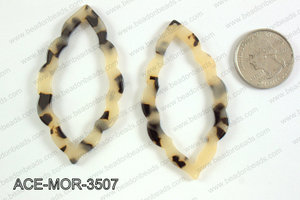 Acetate moroccan pendants 35x63mm ACE-MOR-3507