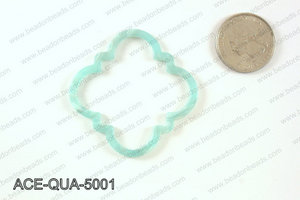 Acetate quatrefoil pendants 50x50mm ACE-QUA-5001