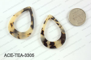 Acetate teardrop pendants 33x45mm ACE-TEA-3305