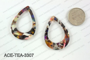 Acetate teardrop pendants 33x45mm ACE-TEA-3307