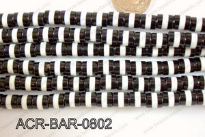 Acrylic Barrel 8x8mm ACR-BAR-0802