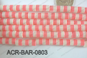 Acrylic Barrel 8x8mm ACR-BAR-0803