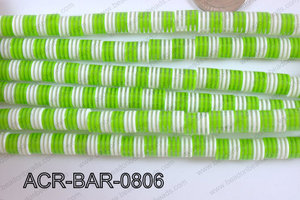 Acrylic Barrel 8x8mm ACR-BAR-0806