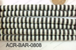 Acrylic Barrel 6x8mm ACR-BAR-0808
