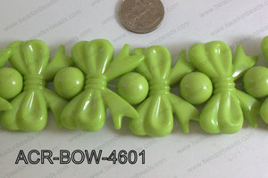 Acrylic Gum Ball And Bow Green 46mm ACR-BOW-4601