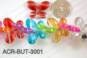 Acrylic Butterfly Multicolor 23x30mm ACR-BUT-3001