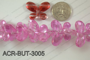Acrylic Butterfly Light Pink  23x30mm ACR-BUT-3005