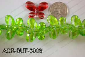 Acrylic Butterfly Green 23x30mm ACR-BUT-3006
