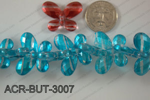 Acrylic Butterfly Blue 23x30mm ACR-BUT-3007