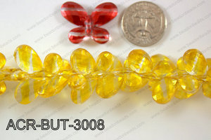 Acrylic Butterfly Yellow 23x30mm ACR-BUT-3008
