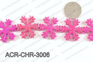 Acrylic Chrismas Snowflake Hot Pink 30mm ACR-CHR-3006