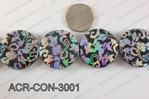 Acrylic Coin Black 30mm ACR-CON-3001