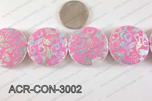 Acrylic Coin Light Pink 30mm ACR-CON-3002